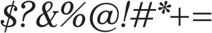 Bookseller Bk Ample Italic otf (400) Font OTHER CHARS