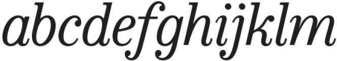 Bookseller Bk Ample Italic otf (400) Font LOWERCASE