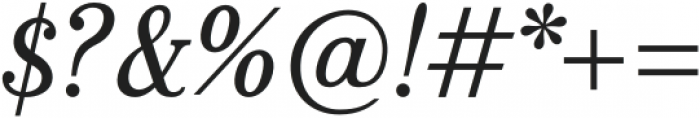 Bookseller Bk Regular Italic otf (400) Font OTHER CHARS