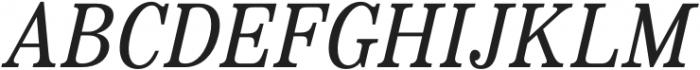 Bookseller Bk Regular Italic otf (400) Font UPPERCASE