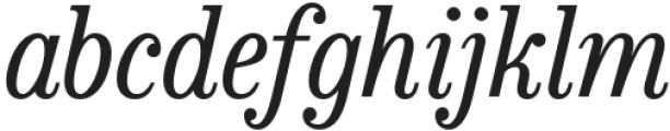 Bookseller Bk Regular Italic otf (400) Font LOWERCASE