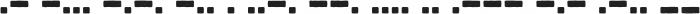 Bootcamp Morsecode otf (400) Font LOWERCASE