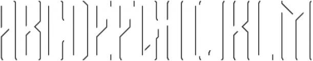 Bootleggers Lines otf (400) Font UPPERCASE