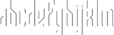 Bootleggers Lines otf (400) Font LOWERCASE