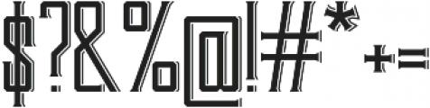 Bootleggers otf (400) Font OTHER CHARS