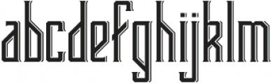Bootleggers otf (400) Font LOWERCASE