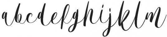 Bordellia otf (400) Font LOWERCASE