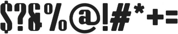 Bornco otf (400) Font OTHER CHARS