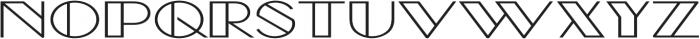 Borotello Expanded Bold otf (700) Font UPPERCASE
