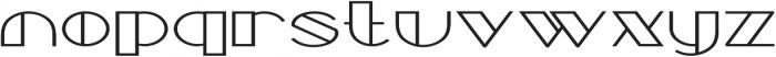 Borotello Expanded Bold otf (700) Font LOWERCASE