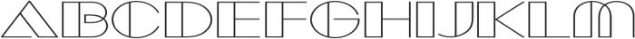 Borotello Expanded Regular otf (400) Font UPPERCASE