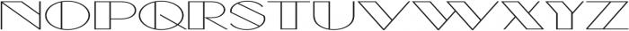 Borotello Extra-expanded Regular otf (400) Font UPPERCASE
