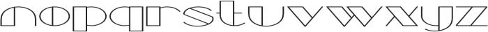 Borotello Extra-expanded Regular otf (400) Font LOWERCASE