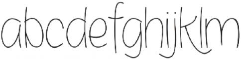 Bosanity Light otf (300) Font LOWERCASE