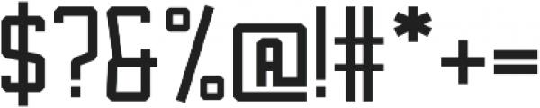 Bosche Regular otf (400) Font OTHER CHARS
