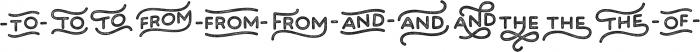 Bosk Hand Elements Press ttf (700) Font UPPERCASE