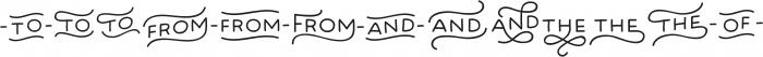 Bosk Hand Elements otf (400) Font UPPERCASE