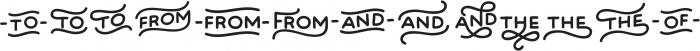 Bosk Hand Elements otf (700) Font UPPERCASE