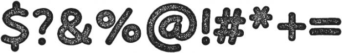 Bosk Hand Press otf (700) Font OTHER CHARS