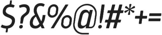 Bosphorus 40 Condensed 43 Regular Italic otf (400) Font OTHER CHARS