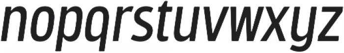 Bosphorus 40 Condensed 43 Regular Italic otf (400) Font LOWERCASE