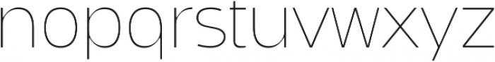 Bosphorus 60 Expanded 61 Thin otf (100) Font LOWERCASE
