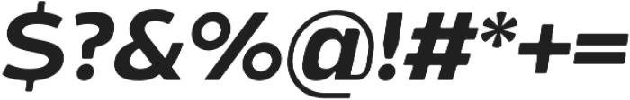 Bosphorus 60 Expanded 64 Medium Italic otf (500) Font OTHER CHARS