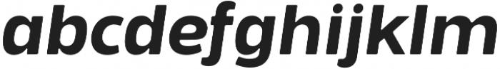 Bosphorus 60 Expanded 64 Medium Italic otf (500) Font LOWERCASE