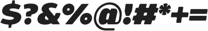 Bosphorus 60 Expanded 66 Black Italic otf (900) Font OTHER CHARS