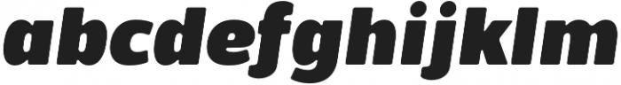 Bosphorus 60 Expanded 66 Black Italic otf (900) Font LOWERCASE