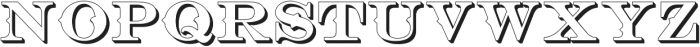 Bosque Classic Extrude ttf (400) Font UPPERCASE