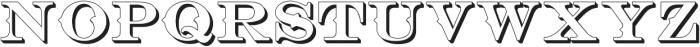Bosque Classic Extrude ttf (400) Font LOWERCASE