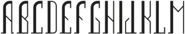 Boston Font Regular otf (400) Font UPPERCASE