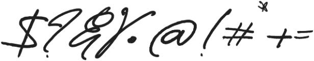Boston Marker Left Swashes otf (400) Font OTHER CHARS