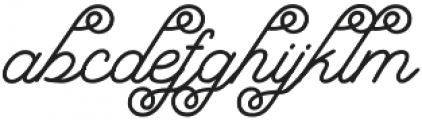 Bostonia Regular otf (400) Font LOWERCASE