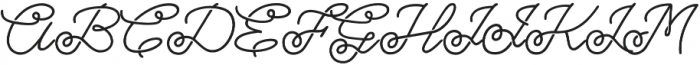 Bostonia Stencil Regular otf (400) Font UPPERCASE