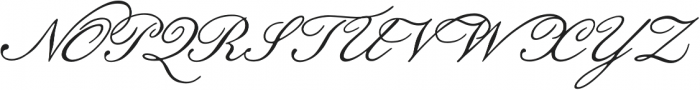 Botanical Scribe otf (400) Font UPPERCASE