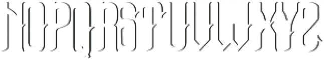 Bottle of Gin shadow otf (400) Font UPPERCASE