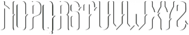 Bottle of Gin shadow otf (400) Font LOWERCASE