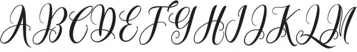 Bottomline Regular otf (400) Font UPPERCASE