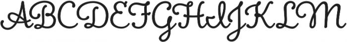 Boucherie Cursive otf (400) Font UPPERCASE