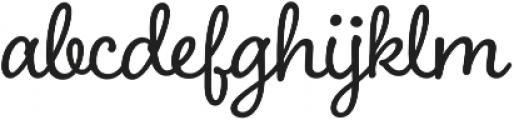 Boucherie Cursive otf (400) Font LOWERCASE