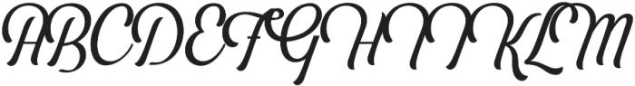 Bouchers Script 2.0 otf (400) Font UPPERCASE