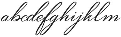 Bougenvil otf (400) Font LOWERCASE