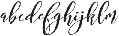 Bougenville Regular otf (400) Font LOWERCASE