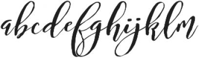 Bougenville Regular ttf (400) Font LOWERCASE