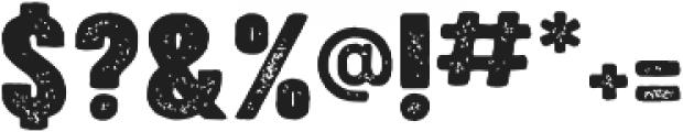 Bouldy Aged otf (400) Font OTHER CHARS