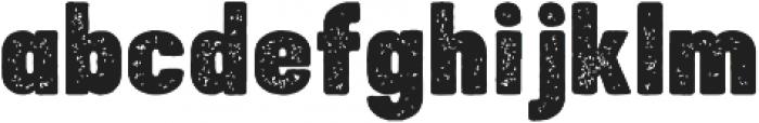 Bouldy Aged otf (400) Font LOWERCASE