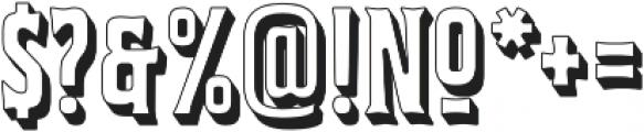 Bourbon House 3D Regular otf (400) Font OTHER CHARS