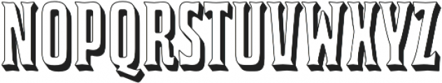 Bourbon House 3D Regular otf (400) Font UPPERCASE